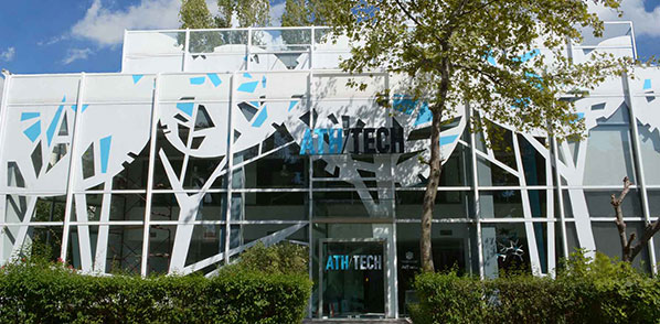 Εξωτερική όψη της εισόδου στο Athens Tech College