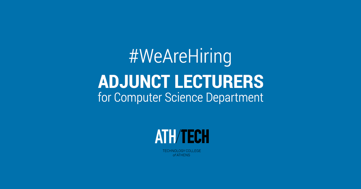 Adjunct Lecturers For Computer Science Department Ath Tech
